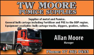 TW Moore Pumice Supplies